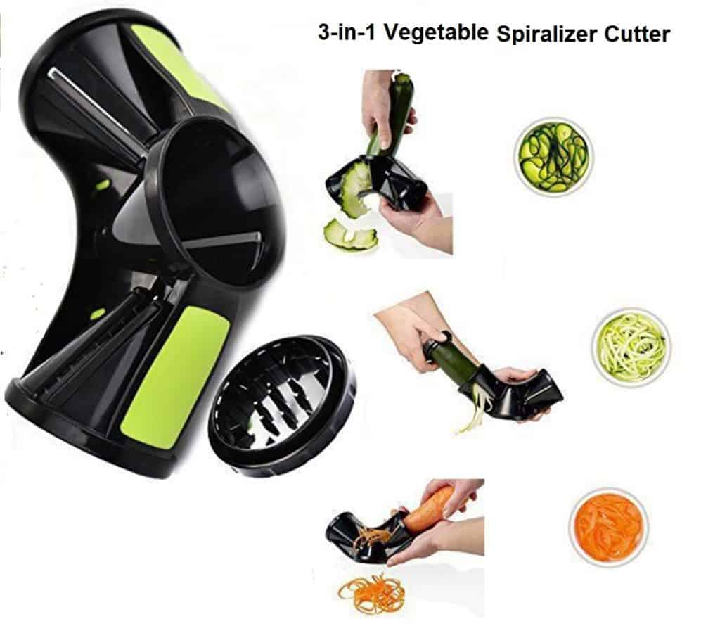 Multi Functional 3-in-1 Vegetable Spiralizer Cutter