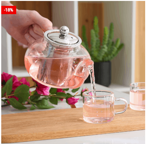 Borosilicate Tea Pot Loose Leaf Glass Infuser